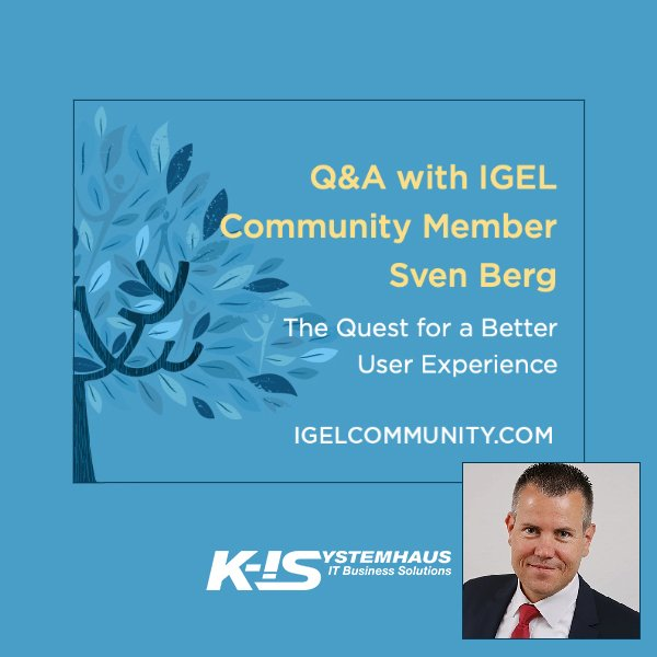 IGEL Q&A mit Sven Berg