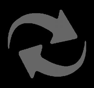 Icon für die Darstellung von Migration (grau)