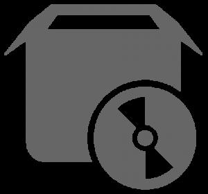 Icon für die Darstellung von Software & Lizenzen (grau)