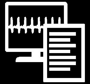 Icon für die Darstellung von Monitoring & Reporting