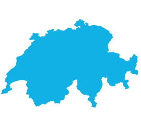 Landkarte zur Darstellung der Schweiz