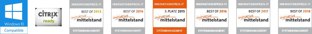 Logos der Auszeichnungen der K-iS Systemhaus Unternehmensgruppe