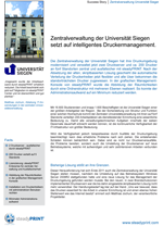 Download der Success Story Uni Siegen